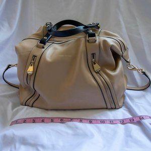 Pour La Victoire Beige Leather Handbag